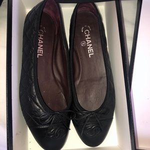 CHANEL Shoes - AUTHENTIC Chanel Quilted Leather Ballerina Flats